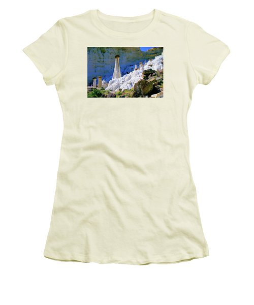 The White Hoodoos Women's T-Shirt (Athletic Fit)