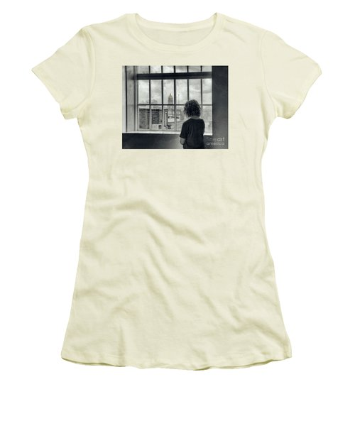 The World Outside My Window Women's T-Shirt (Junior Cut) by Laurinda Bowling