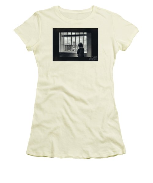 The World Outside My Window Number II  Women's T-Shirt (Junior Cut) by Laurinda Bowling