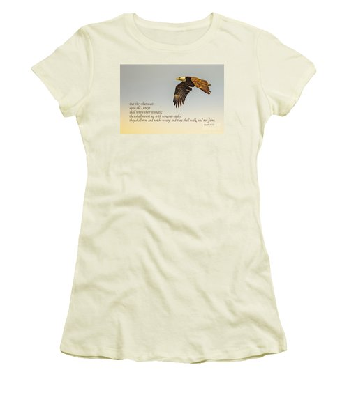 They That Wait Upon The Lord Women's T-Shirt (Junior Cut) by John Roberts