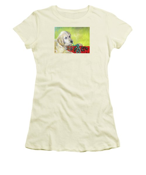 Women's T-Shirt (Junior Cut) featuring the painting This Is Mine? Right? by Donna Tucker