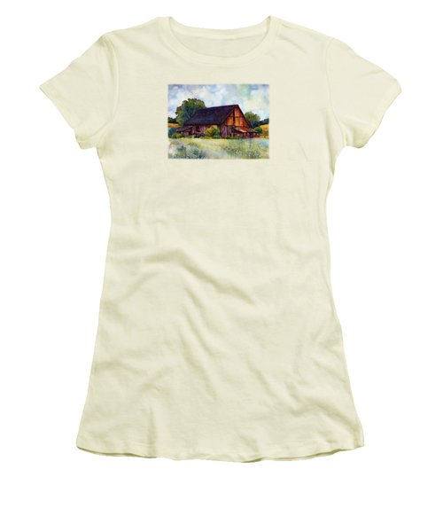 This Old Barn Women's T-Shirt (Junior Cut) by Hailey E Herrera