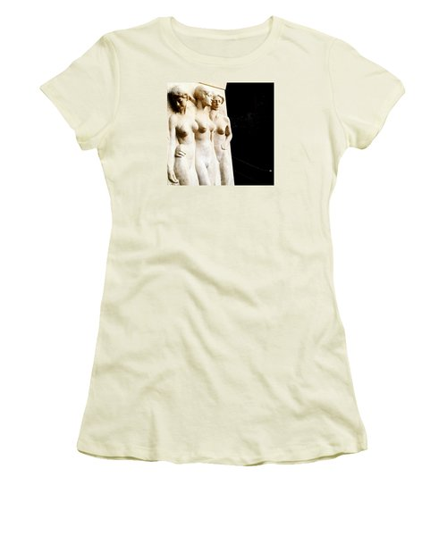 Three Muses Women's T-Shirt (Junior Cut) by Maris Kaerlox