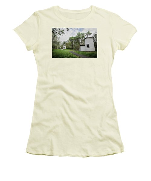 Three Sisters Lighthouses Women's T-Shirt (Junior Cut) by Patrice Zinck