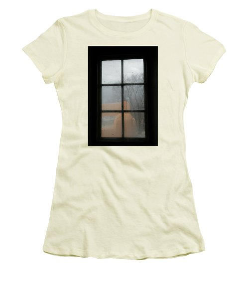 Women's T-Shirt (Junior Cut) featuring the photograph Through A Museum Window by Marilyn Hunt