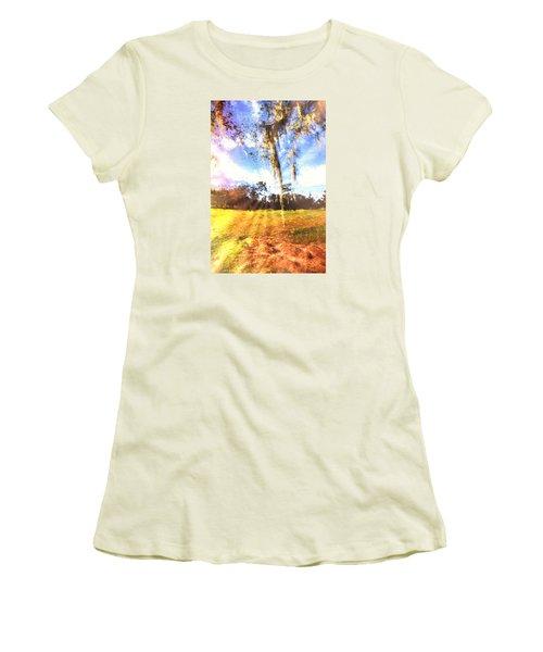 Through The Moss Women's T-Shirt (Junior Cut) by Annette Berglund