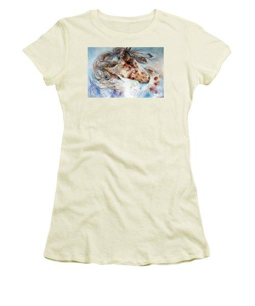 Thunder Appaloosa Indian War Horse Women's T-Shirt (Athletic Fit)