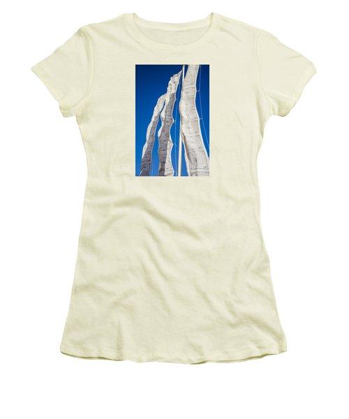 Tibetan Prayer Flags Women's T-Shirt (Junior Cut) by Perry Van Munster