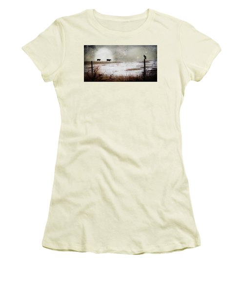 'til The Cows Come Home Women's T-Shirt (Junior Cut) by Theresa Tahara