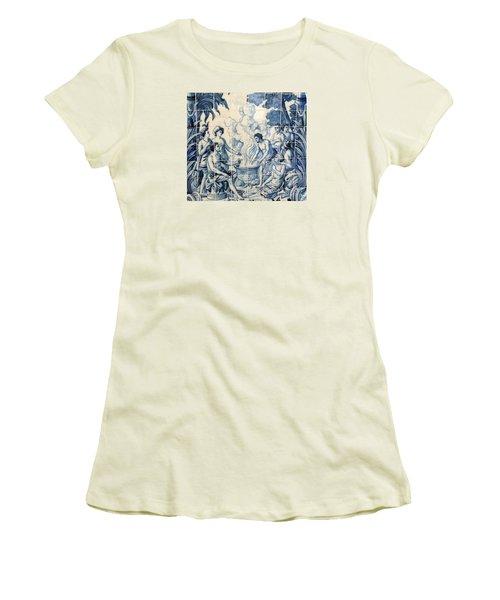 Tile Art Women's T-Shirt (Junior Cut) by John Potts