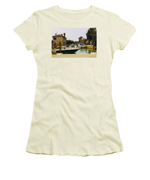 Torcello Island Women's T-Shirt (Junior Cut) by Cendrine Marrouat
