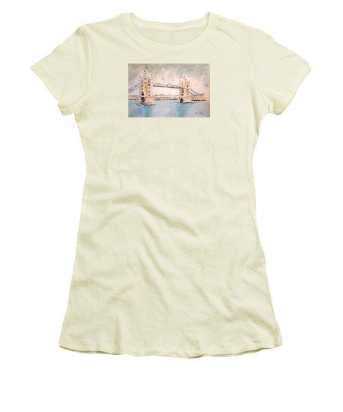 Tower Bridge Women's T-Shirt (Junior Cut) by Marilyn Zalatan