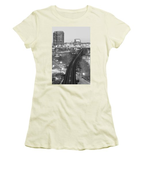 Tracks Into The City Women's T-Shirt (Athletic Fit)