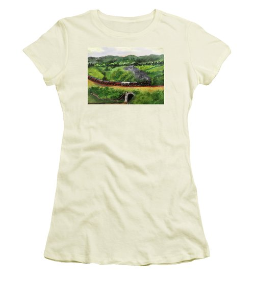 Train In The Country Women's T-Shirt (Athletic Fit)