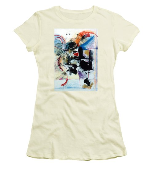 Women's T-Shirt (Junior Cut) featuring the drawing Transcendance  by Kerryn Madsen-Pietsch
