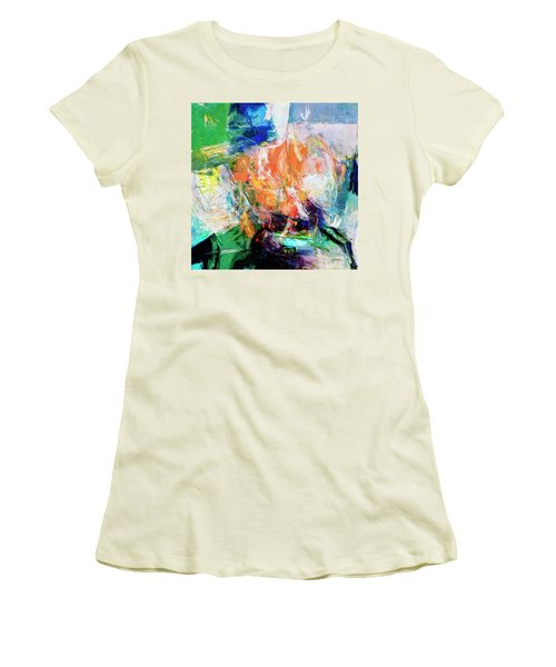 Women's T-Shirt (Junior Cut) featuring the painting Transformer by Dominic Piperata