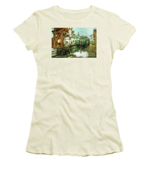 Traveling By Train Women's T-Shirt (Junior Cut) by Claudia Ellis