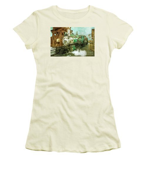 Traveling By Train Women's T-Shirt (Athletic Fit)