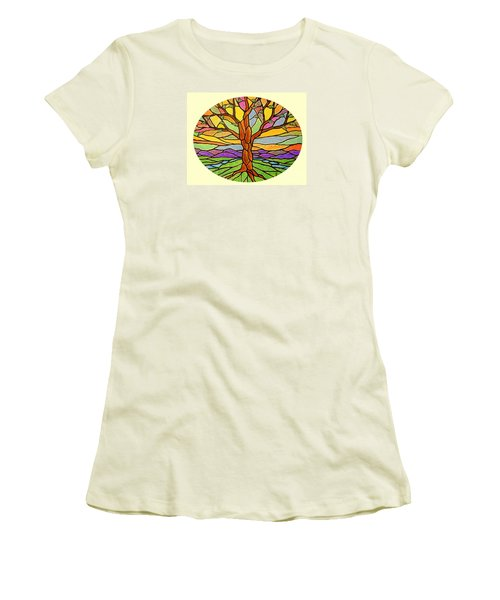 Tree Of Grace 2 Women's T-Shirt (Junior Cut) by Jim Harris