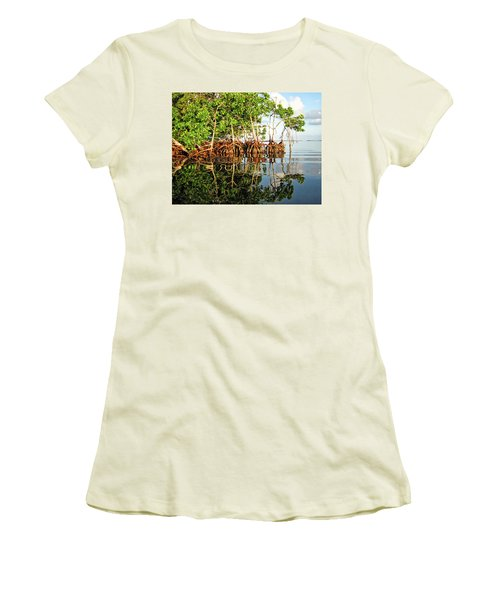 Trees In The Sea Women's T-Shirt (Athletic Fit)