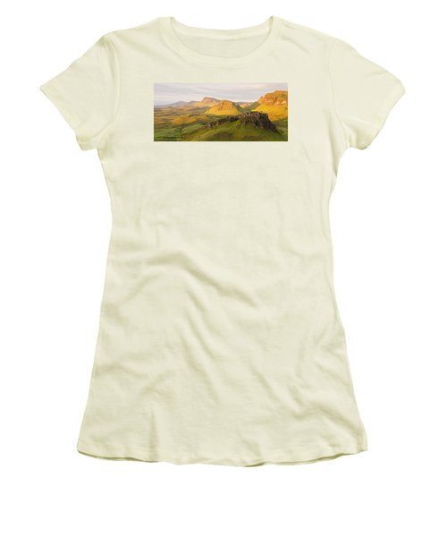 Trotternish Summer Panorama Women's T-Shirt (Athletic Fit)