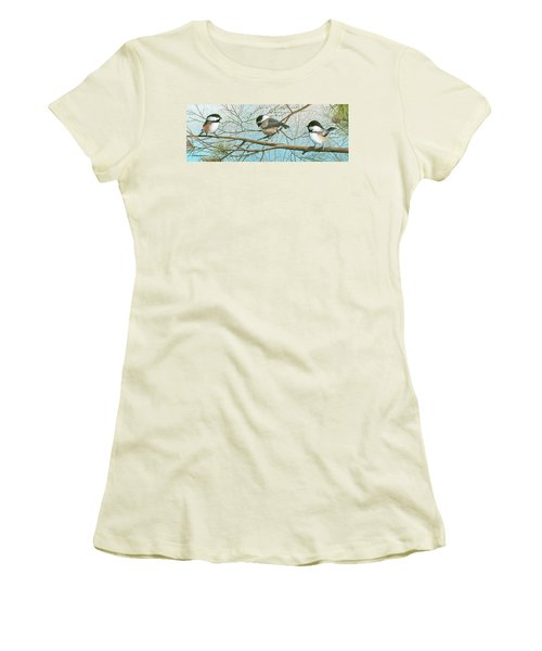 Troublesome Trio Women's T-Shirt (Junior Cut) by Mike Brown
