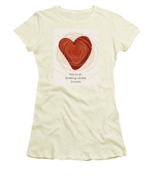 Women's T-Shirt (Junior Cut) featuring the painting True Love by Frank Tschakert