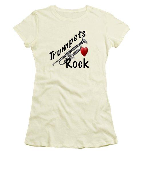 Trumpets Rock Women's T-Shirt (Junior Cut) by M K  Miller
