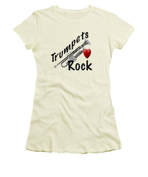 Trumpets Rock Women's T-Shirt (Athletic Fit)