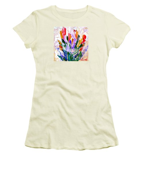 Tulips Women's T-Shirt (Junior Cut) by Fred Wilson