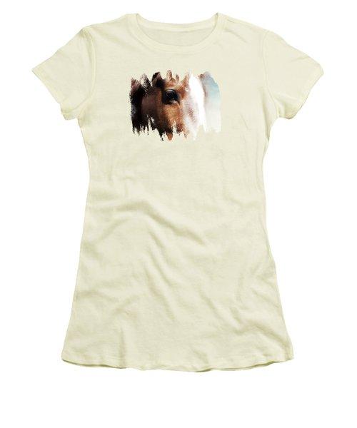 Tumbleweed Up Close Women's T-Shirt (Junior Cut) by Anita Faye