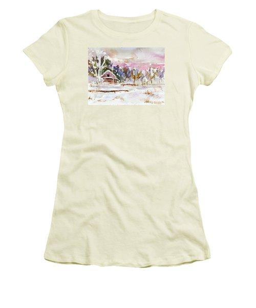 Twilight Serenade I Women's T-Shirt (Junior Cut) by Xueling Zou