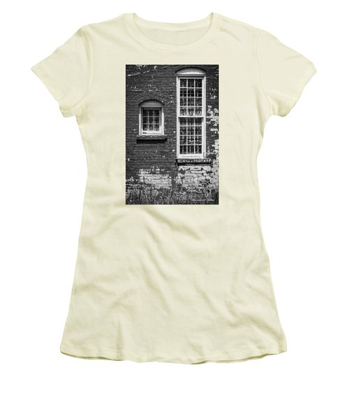 Women's T-Shirt (Junior Cut) featuring the photograph Twins - Bw by Christopher Holmes