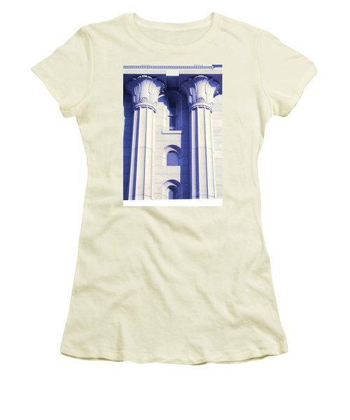 Two Columns Women's T-Shirt (Athletic Fit)