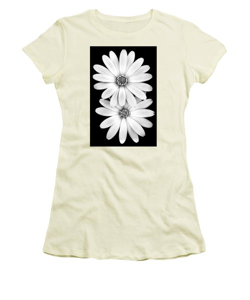 Two Flowers Women's T-Shirt (Athletic Fit)