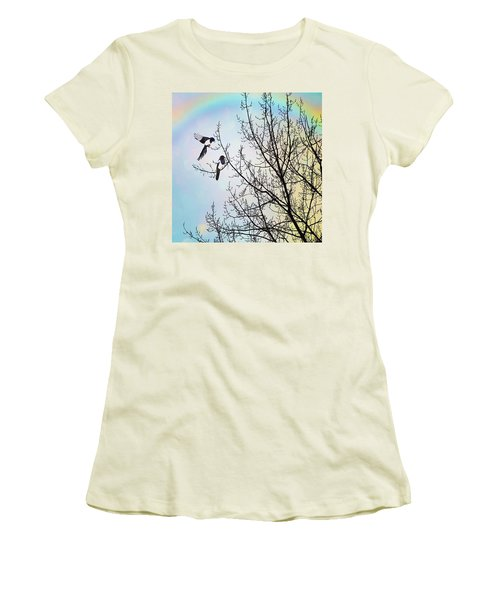 Two For Joy #nurseryrhyme Women's T-Shirt (Athletic Fit)
