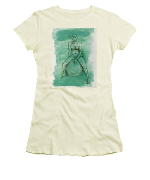 Women's T-Shirt (Junior Cut) featuring the drawing Under Pressure by Paul McKey