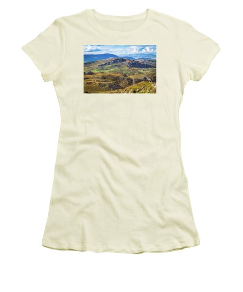 Undulating Landscape In Kerry In Ireland Women's T-Shirt (Junior Cut) by Semmick Photo