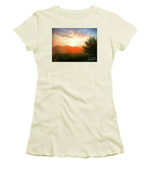 Women's T-Shirt (Athletic Fit) featuring the photograph Unfailing Love by Kerri Farley