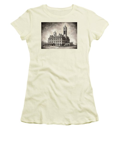 Union Station Mixed Media Women's T-Shirt (Athletic Fit)