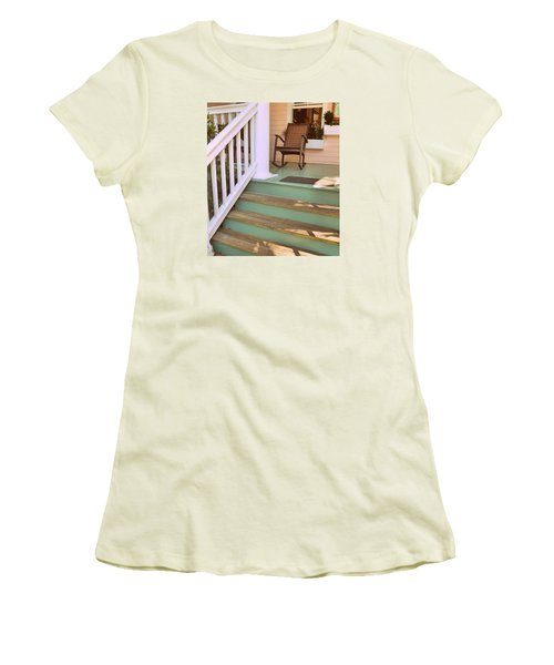 Up The Steps Women's T-Shirt (Athletic Fit)