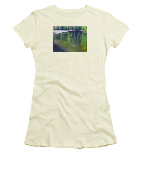 Upriver View Women's T-Shirt (Athletic Fit)
