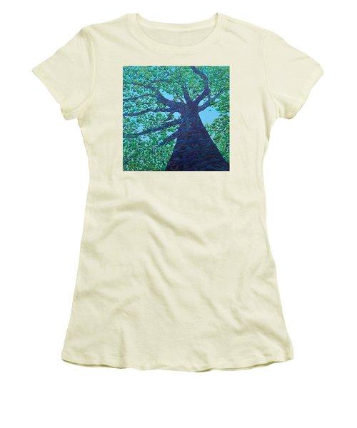 Upward Treejectory Women's T-Shirt (Athletic Fit)