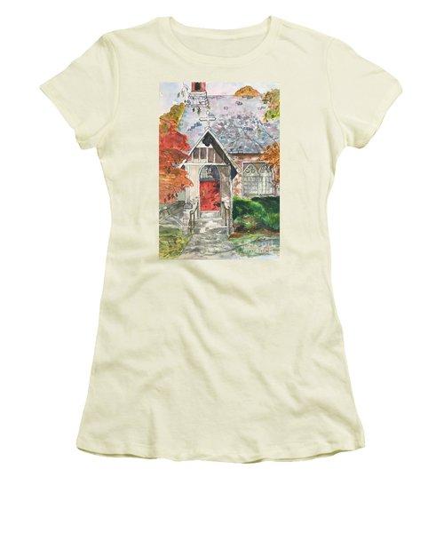 Urban  Church Sketching Women's T-Shirt (Junior Cut) by Lucia Grilletto