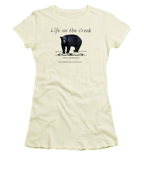 Ursus Americanus - Color Bear Black Text Women's T-Shirt (Athletic Fit)