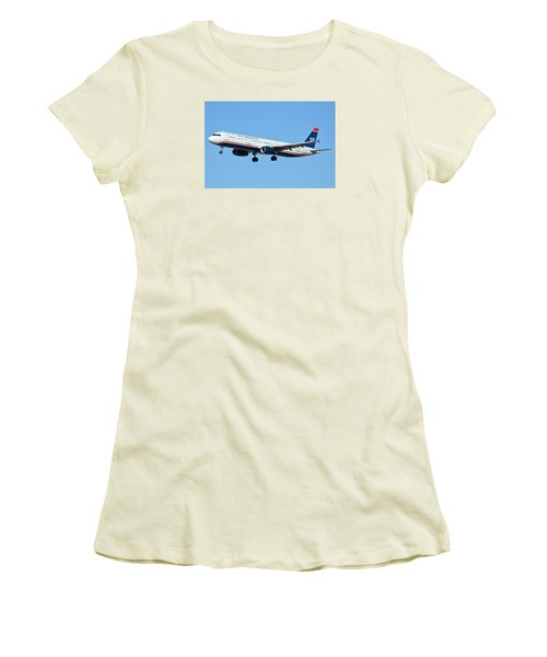 Us Airways Airbus A321-231 N567uw Women's T-Shirt (Athletic Fit)