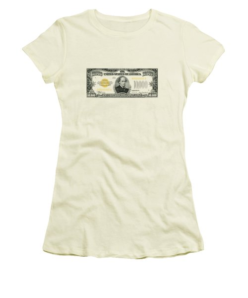 U.s. Ten Thousand Dollar Bill - 1934 $10000 Usd Treasury Note Women's T-Shirt (Athletic Fit)