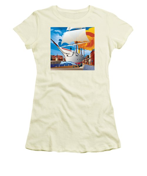 Uss Annapolis In Ego Alley Women's T-Shirt (Athletic Fit)