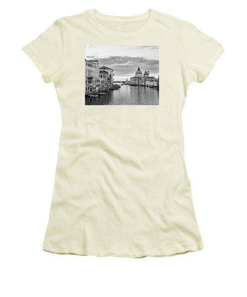 Women's T-Shirt (Junior Cut) featuring the photograph Venice Morning by Richard Goodrich