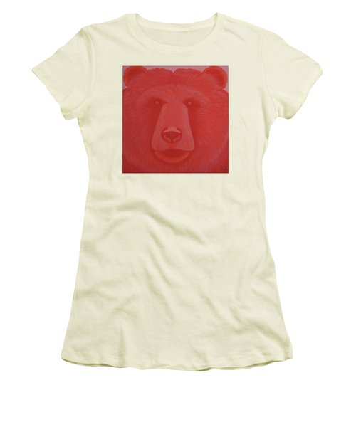 Vermillion Bear Women's T-Shirt (Athletic Fit)